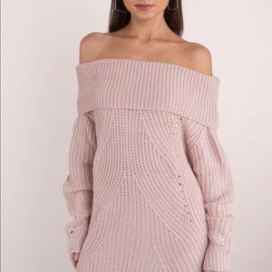 Blush Pink Sweater Dress